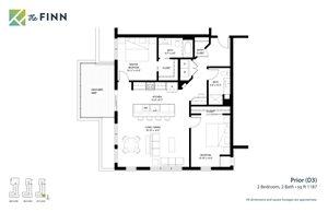 Floor plan at The Finn Apartments, St. Paul, MN