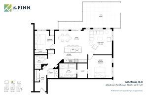 Floor plan at The Finn Apartments, Minnesota