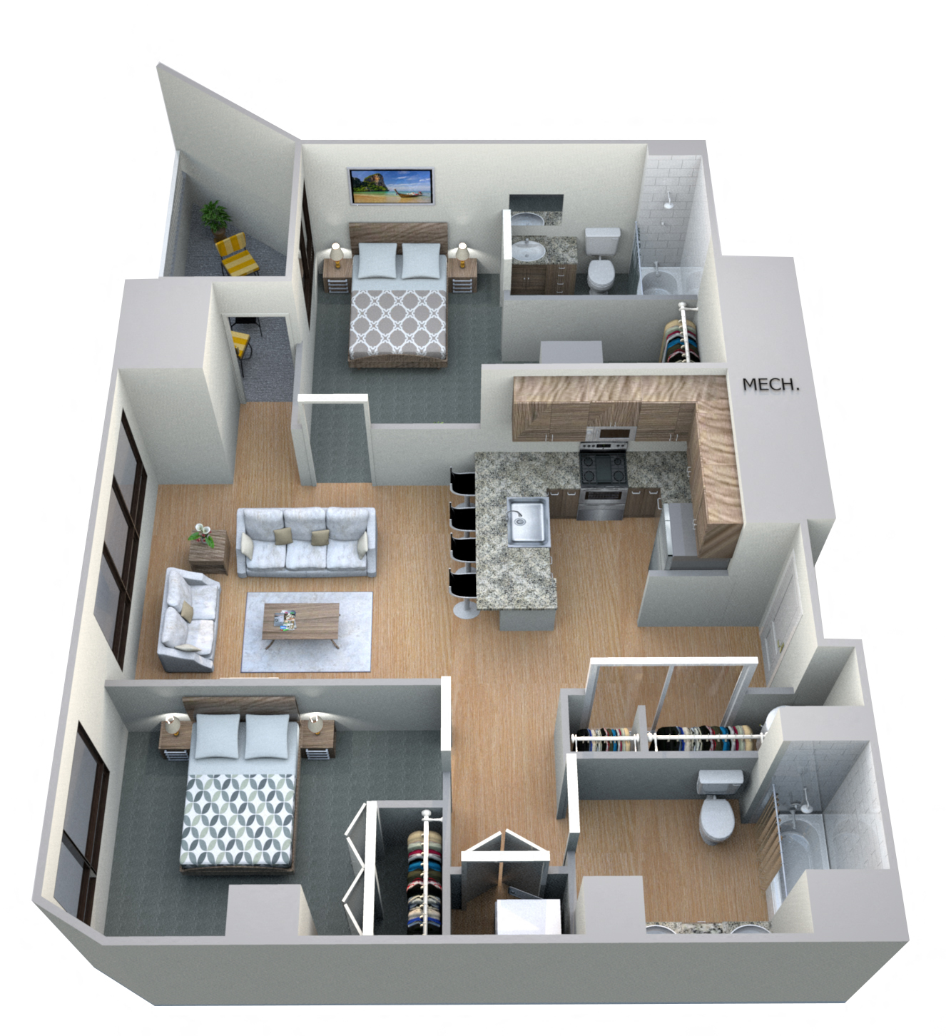 Floor Plans Of M Apartments In Spokane, WA