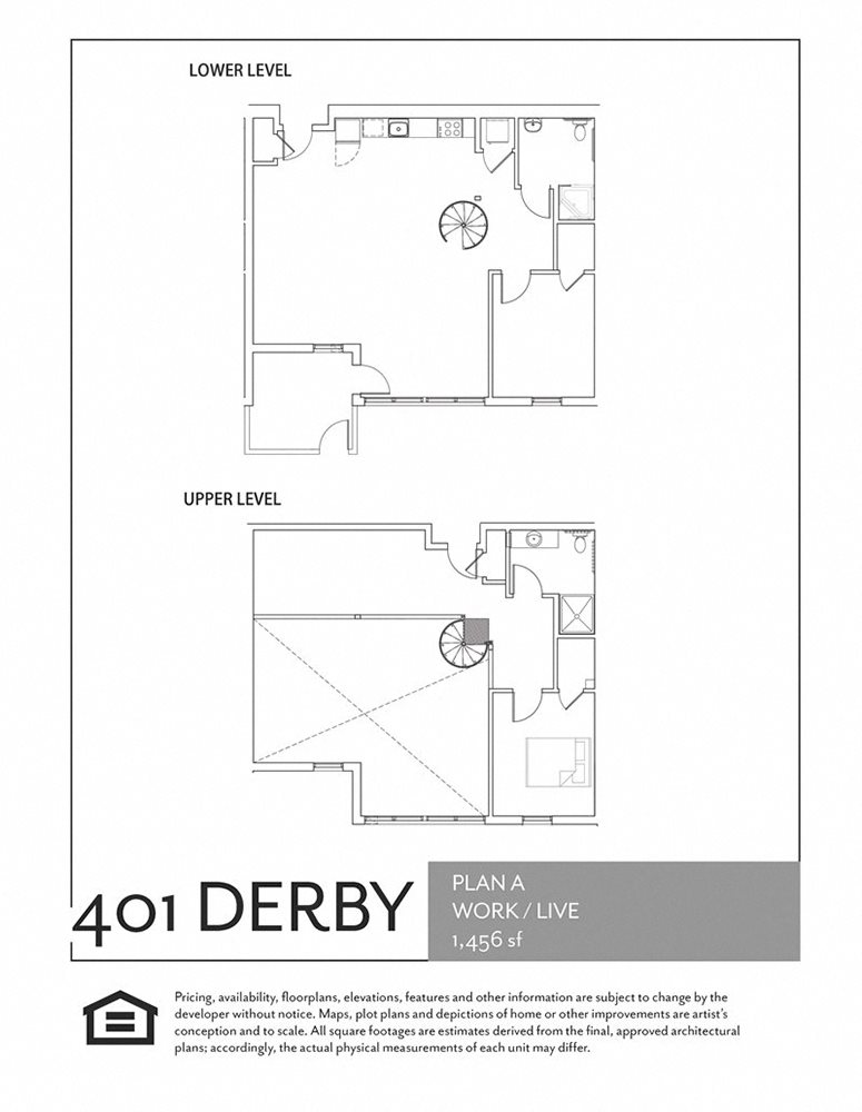2 bedroom, 2 bath Work / Live Floor Plan 4