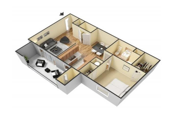 The Cortez floor plan.