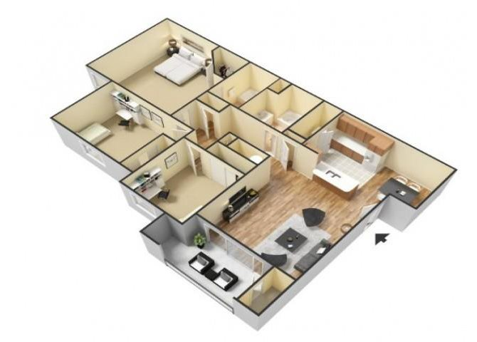 The Santa Fe floor plan.