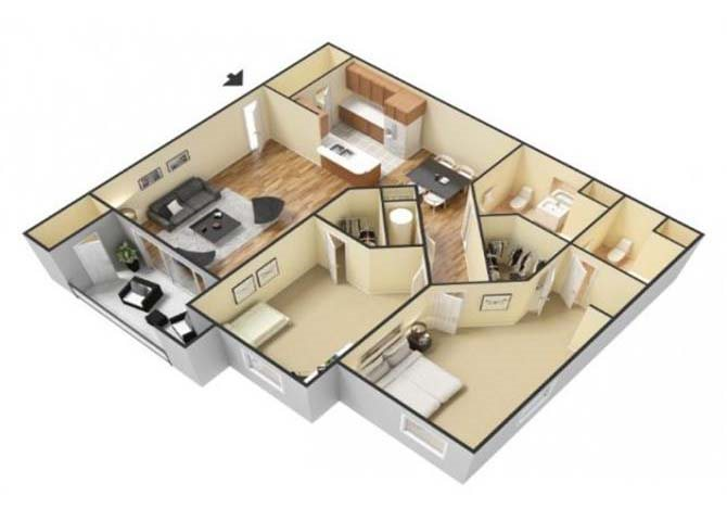 The Santa Rosa floor plan.