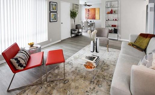 Apartments in Monterey Park CA for Rent - Emerald Hills Apartments Living Room