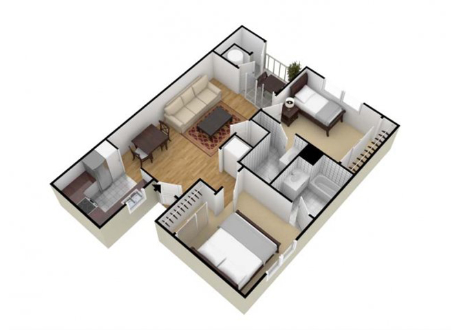 Garden Villa floor plan.