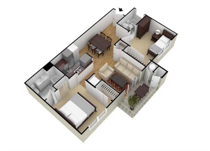 Terrace floor plan.