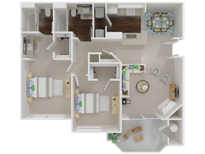 Oak Brook Apartments floorplan 1