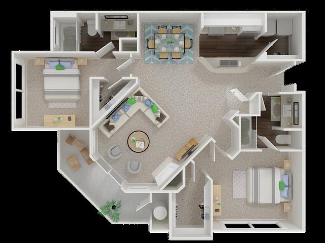 Oak Brook Apartments floorplan 1