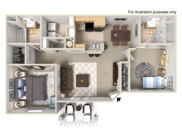 Villas at D'Andrea Apts floorplan 1