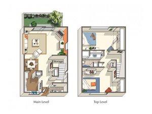 Cypress ~ W/D in unit floor plan.