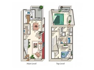 Magnolia ~ W/D in unit floor plan.