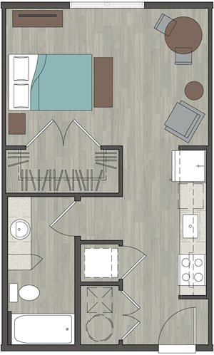 Lofts at Monroe | Studio 476 Sq. Ft.