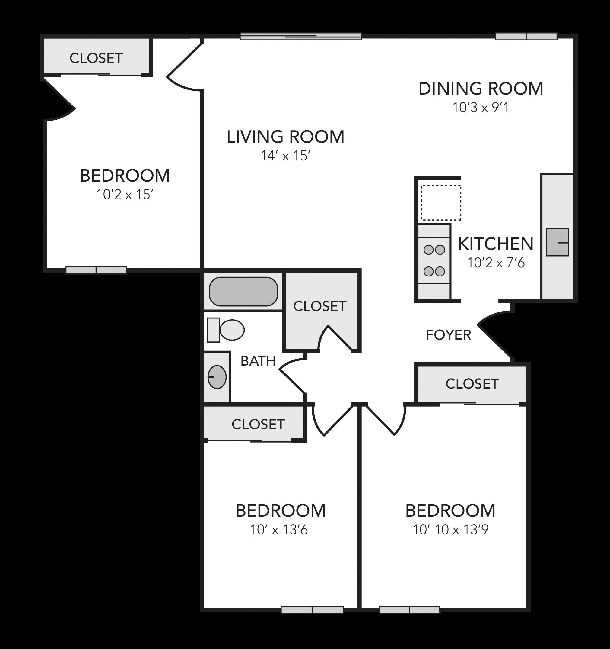Luxury One, Two, & Three Bedroom Apartments Walnut Creek, CA