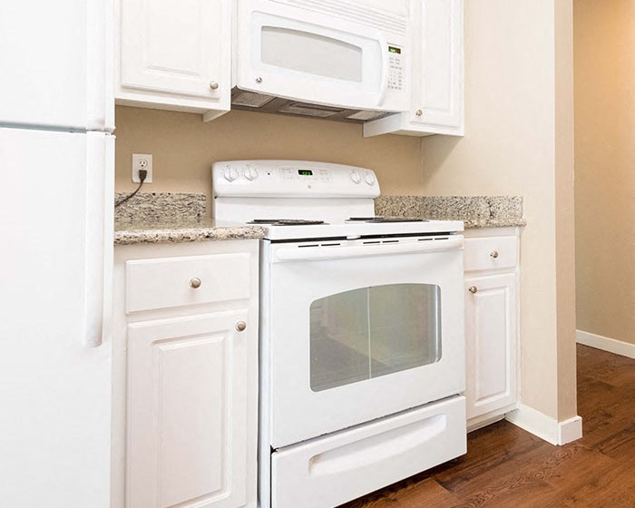 Spacious kitchens at The Meridian