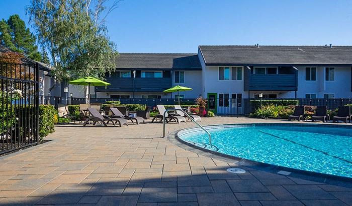 Enjoy a swim living at The Meridian