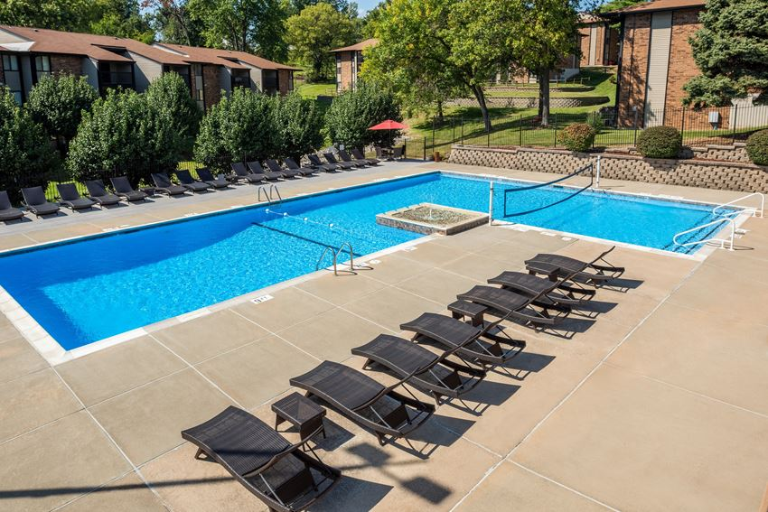 Pool View at Whisper Hollow Apartments, Maryland Heights, MO