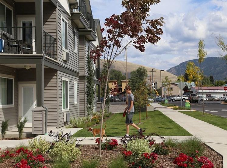 Outdoor Walking Paths at Corso Apartments, Missoula, MT