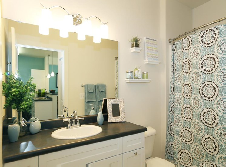 Spa Inspired Bathroom at Corso Apartments, Missoula, MT, 59801