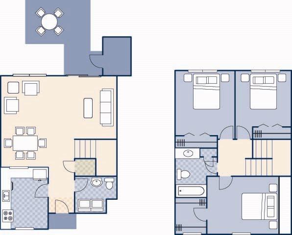 Pierce Terrace 5 1350 B Floor Plan 25