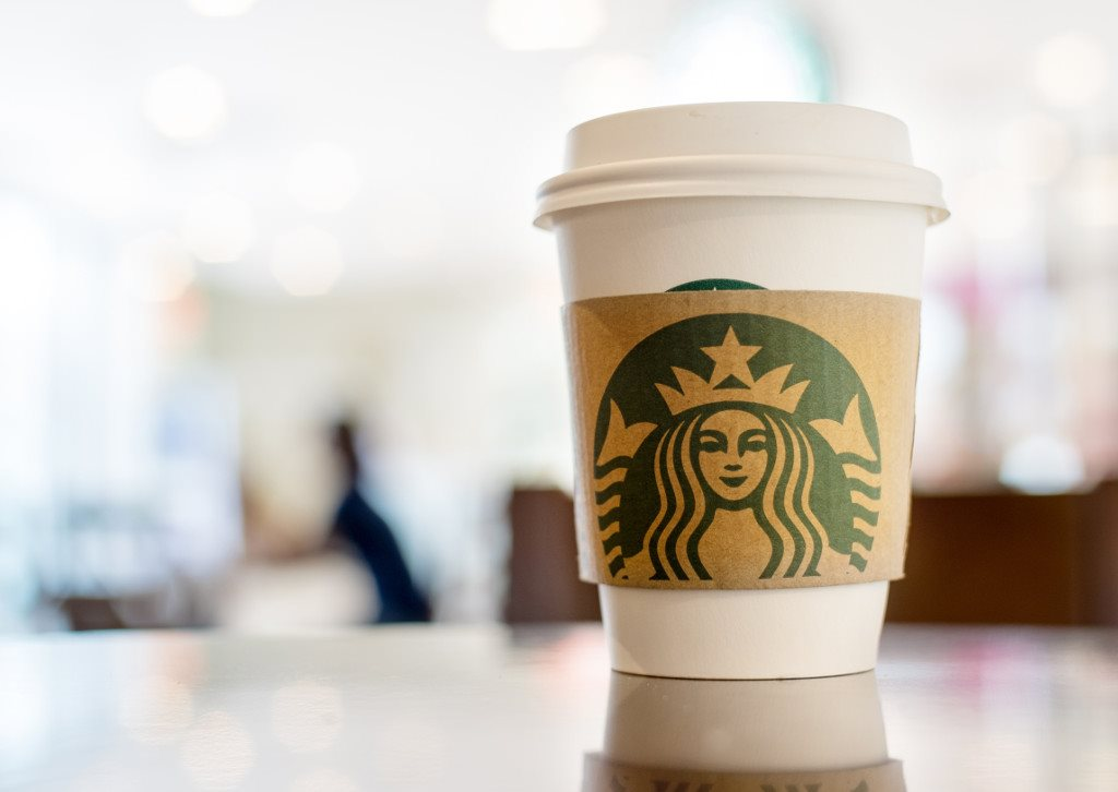 Get your morning cup of joe at the Starbucks coffee bar