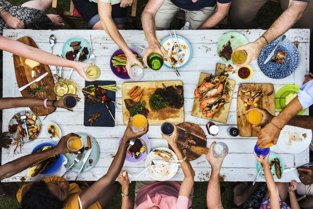 Mingle with your neighbors at hosted social events