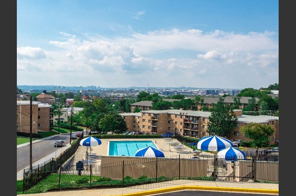 View From The Top Of Washington Apartments