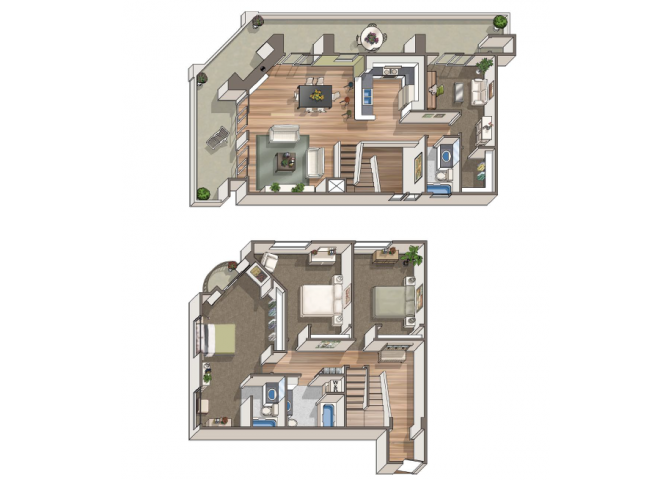 The Eaton floor plan  at 1801 L | Sacramento, CA 95811