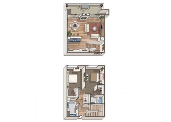 The Escher floor plan  at 1801 L | Sacramento, CA 95811
