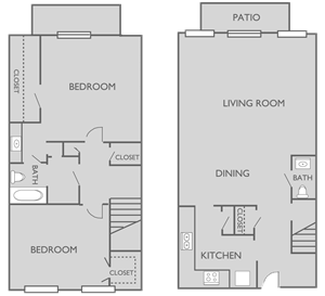 TH1 2 bed, 1.5 bath