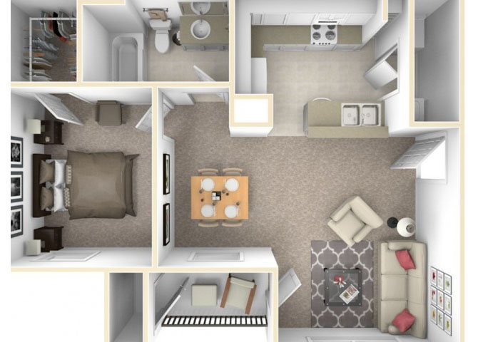 the A1 floor plan