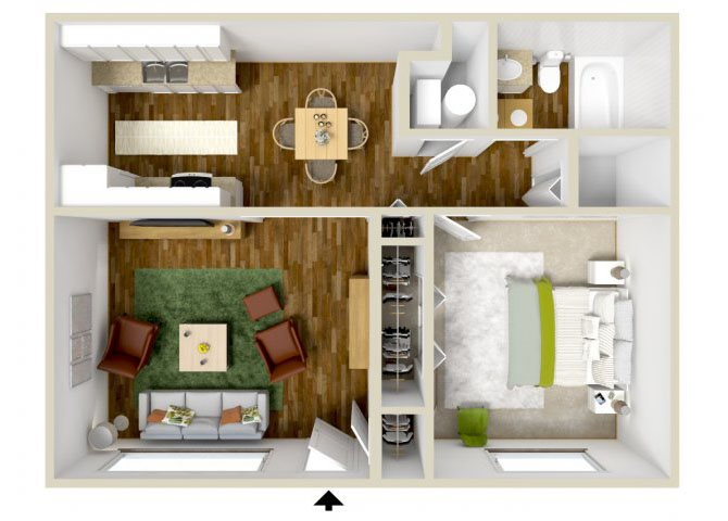 the A1 floor plan