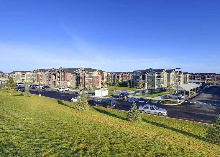View of apartment buildings and community Parker Co Apt Rentals