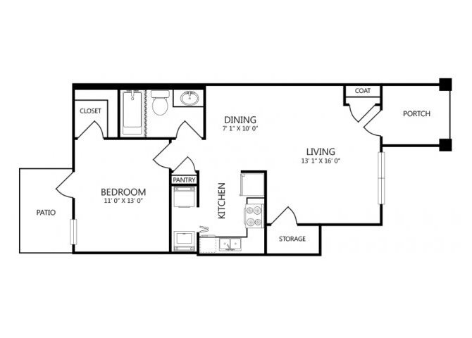 the A2 floor plan