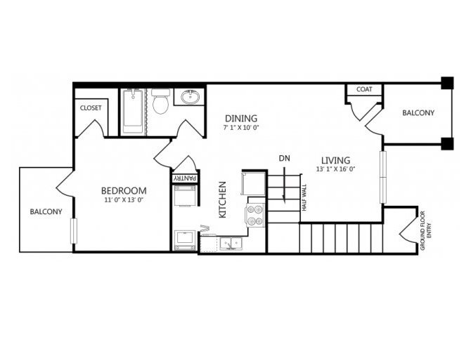 the A3 floor plan