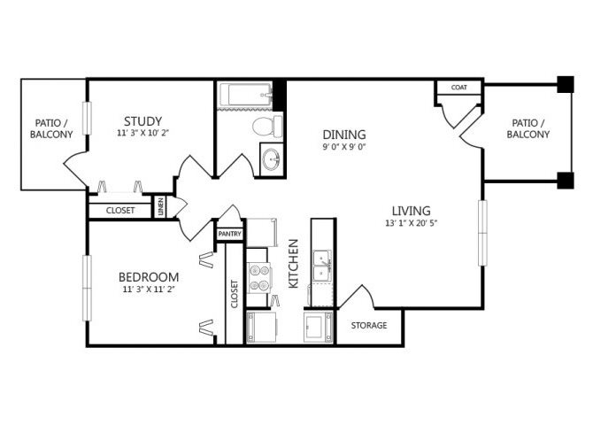 the A4 floor plan