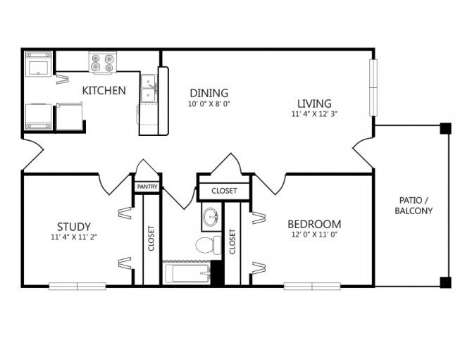 the B1 floor plan