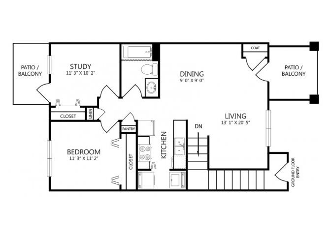 the B2 floor plan