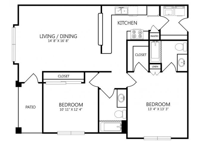 the B3 floor plan