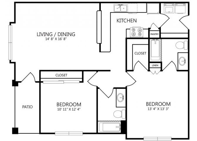 the B4 floor plan