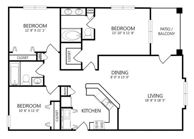 the C1 floor plan