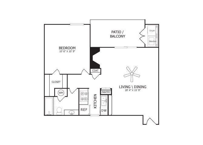 the A2 floor plan
