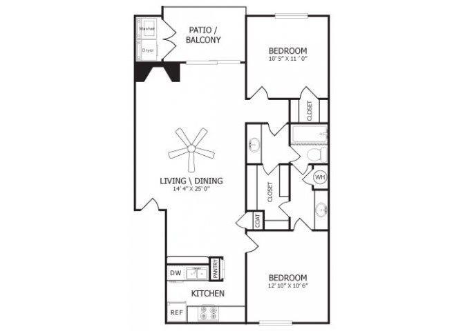 the B1 floor plan