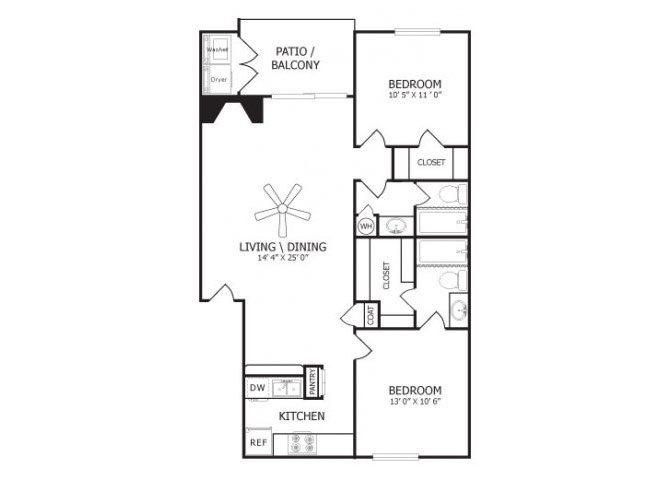 the B2 floor plan