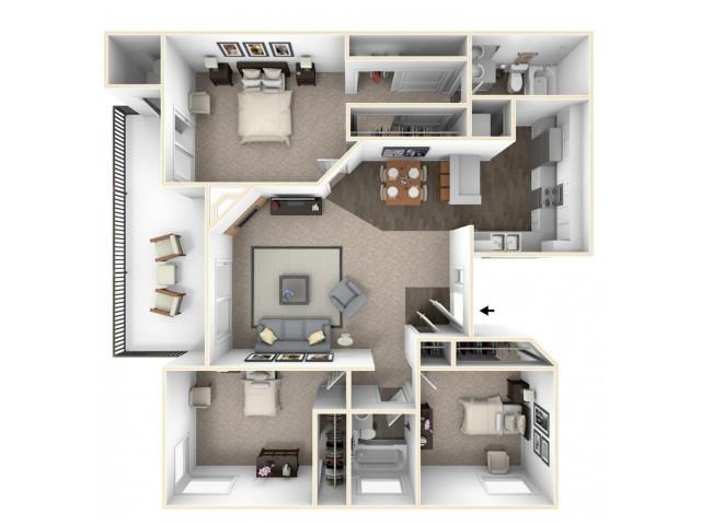 C1 RENOVATED Floor Plan 12