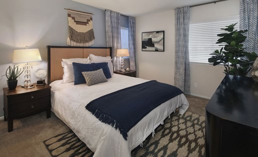 Newly Renovated One Bedroom Apartments in Rancho Cucamonga CA for Rent - Creekside Alta Loma Apartments Bedroom