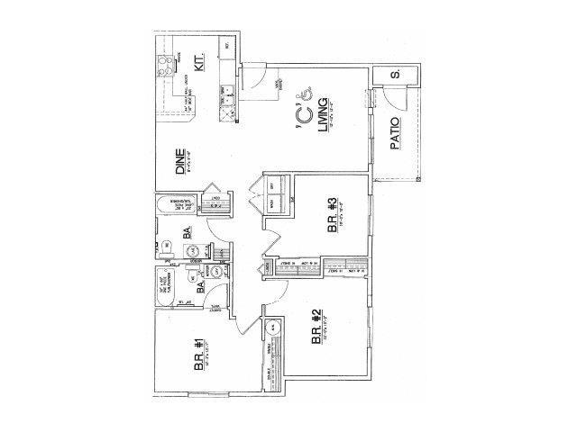 3x2 floor plan.