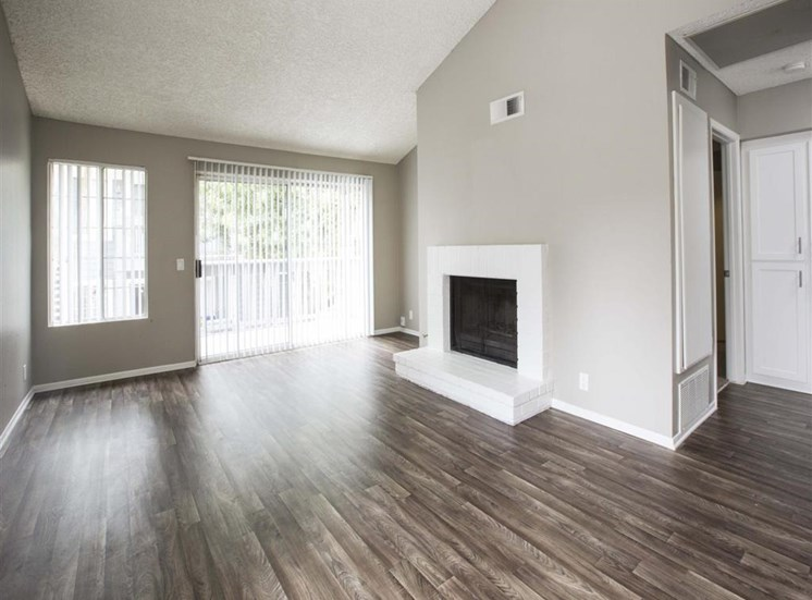 Living room with Fireplace Apartments in San Pedro CA for Rent - Harborview Apartments Living Room