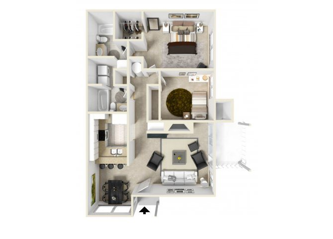 Two bedroom apartments for rent in 90723