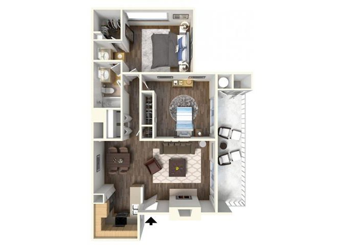 The Bradford floor plan.