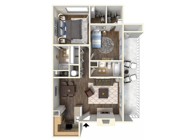 The Holly floor plan.